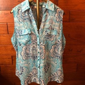 New York & Co sleeveless blouse XL
